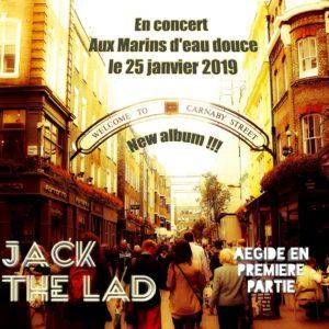 *CONCERTS DU VENDREDI 25 JANVIER: JACK THE LAD!! NOUVEL OPUS!