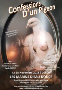 *Théâtre du mercredi Soir: CONFESSIONS D'UN PIGEON